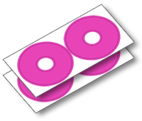 GD02PI 1:8 BUGGY ROUND DECALS-PINKماشین کنترلی آرسی