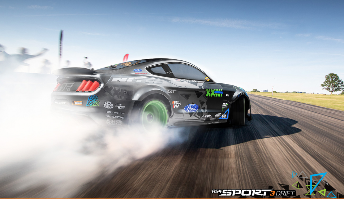 RS4 Sport 3 Drift! Featuring the 2015 Ford Mustang with RTR Spec 5 tuning